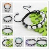 Wholesale Fashion 2012 New Stytle Ctystal Shamballa Bead & Pearl Bracelets
