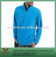 100% polyester fleece blue winter casual sport wear