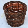 European style hand made rattan basket trash can rubbish bin