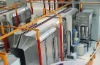 Thermoplastic powder coating production line