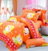 4 pcs Poly / Cotton bedding set