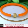 stainless steel magnetic clasp personalized silicone bracelets