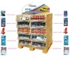 pallet display, cardboard display stands, carboard floor displays,auto display, dump bin, display box