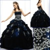 Traditional strapless ball gown in Taffeta with embroidered Quinceanera Dress SH682