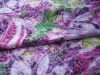 polyester cotton single jersey knitting printing fabric with burn out for lady's underwear