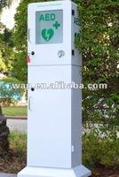 AED Floor Stand Cabinet with Alarm Defibrillator cabinet defibrillator sale price