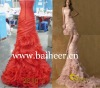 2013 new wedding dresses luxury trailing Organza evening dress party dress cocktail dress