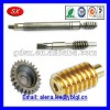 Customized CNC copper/steel worms ,gears ,