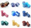 Wholesale high quality mix stones piercing ear plug