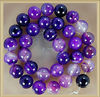 KJL-AG2557 Wholesaler 12mm agate beads, Banded Purple Agate