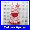 Fashion Wholesale Cheap Red Dot Canvas Woman Kitchen Apron Free Size Yiwu Factory
