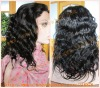 Body wave indian remy hair full lace wigs with baby hair for lady