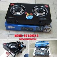 2 burner glass top gas cooker (RD-GD002-5)