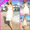 Beautiful Short White Chiffon Multi-layer Beach Short Wedding Dress EG1661