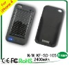 2400mAh solar mobile charger for iphone 4