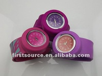 newest fashion silicon slap watch for kids and adults with available color