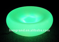 manufacturer discount glass and plastic colorful LED flashing fruit tray for party bar club