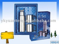 double wall stainless steel thermal bottle gift set sets