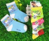 latest design bird style best selling kids shoe socks with small MOQ