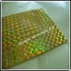 gold color self-adhesive laser film,self adhesive holographic film