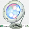 2012 AC24V/110-220V stainless steel led waterproof colorfull 6X1W OD120mm 600Im