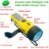 Solar Hand Crank Led Torch Light With Degital Radio Mobile Charger
