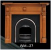 wooden fireplace mantel