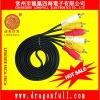 assembly 3rca-3rca wire/cable/lead/cord for av imput&output gold pin with round packing