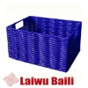 PE hollow pipe 100%handmade woven rectangular basket with handle