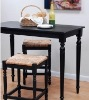 Wood bar stool and bar table