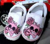 2012 cheap baby fashion soft sole baby shoes skull punkwalking shoes