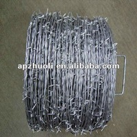 Anping galvanized barbed wire with low price for sale