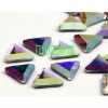wholesale colorful triangle shape best quality rhinestone