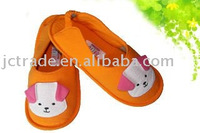 warm slipper shoes with cartoon logo