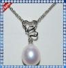 Beautiful Heart Freshwater Pearl Silver Pendant