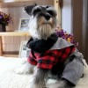 2012 New arrival and stylish red checked cotton dog clothes for 2012