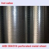 stainless steel perforated metal mesh (AISI 304 316 )