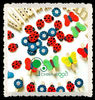 Craft 35mm Wood Decoration Pegs with wood butterfly and ladybug