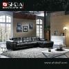 977 2012 Latest design black modern sofa set