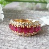 14k Yellow Gold Genuine Ruby Ring 00076005