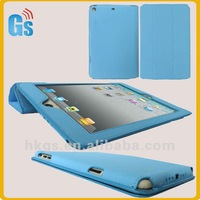 For ipad mini folding pu leather stand case blue