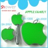 Apple Family ABS Plastic Bathroom Shower Head Set