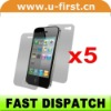 5*clear front back full body guard screen protector for iphone 4