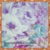 cotton printed fabric with blue and white flower for home textile