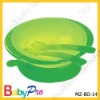plastic baby bowl with fork and spoon