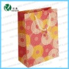 Pink Circles with Gift Tag - Portrait Luxury Paper Gift Bags craft paper shopping bag