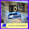 blue base acrylic digital camera holder