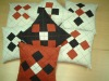 faux suede argyle patch cushion cover
