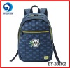2012 fashionable blue 600D school bag for students