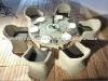 Outdoor Furntirue Round white Rattan Dining Set